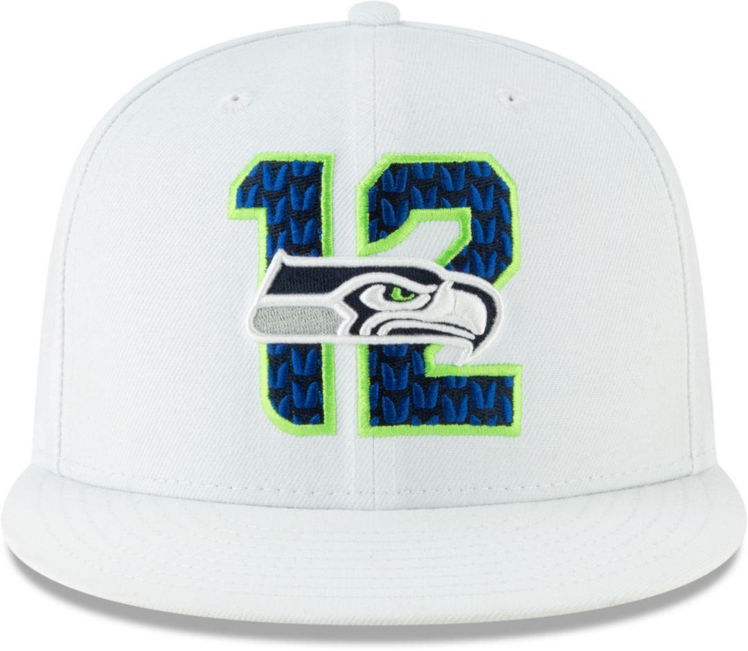 7439cc9c5 New Era Men's Seattle Seahawks 2019 NFL Draft 9Fifty Snapback Adjustable  White Hat
