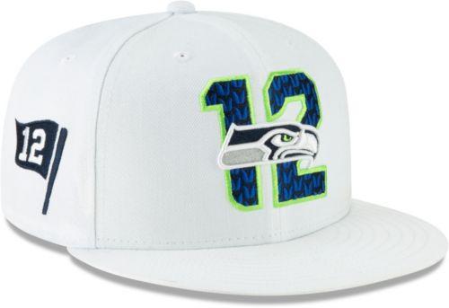 56679f2e57f70 New Era Men s Seattle Seahawks 2019 NFL Draft 9Fifty Snapback Adjustable  White Hat. noImageFound. Previous. 1. 2. 3