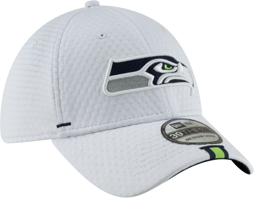 reputable site 88669 904ed New Era Men s Seattle Seahawks Sideline Training Camp 39Thirty Stretch Fit  White Hat 3