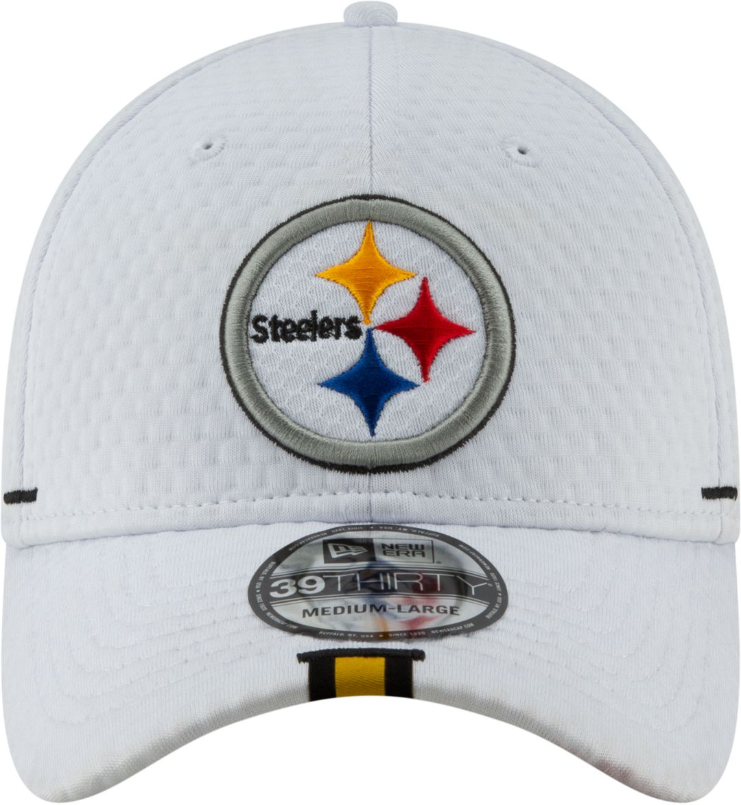 the best attitude 492e9 56743 New Era Men s Pittsburgh Steelers Sideline Training Camp 39Thirty Stretch  Fit White Hat. noImageFound. Previous. 1. 2