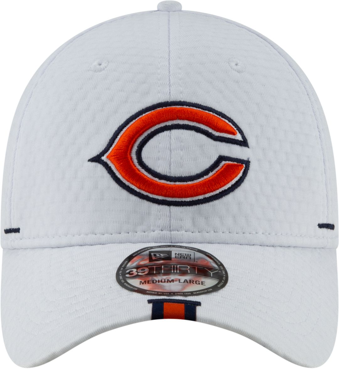 fea72d7356f7eb New Era Men's Chicago Bears Sideline Training Camp 39Thirty Stretch Fit  White Hat