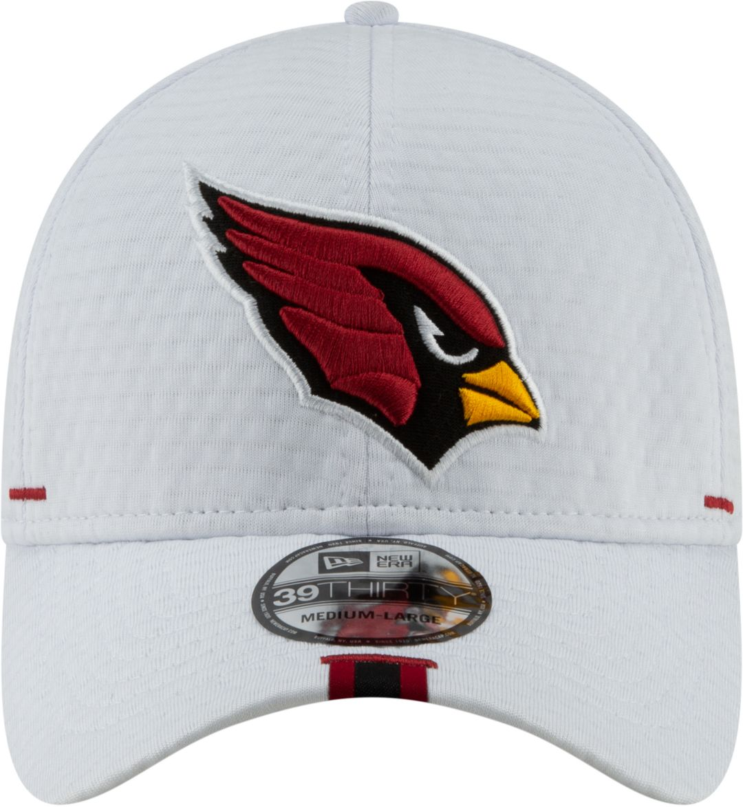 02c306c4 New Era Men's Arizona Cardinals Sideline Training Camp 39Thirty Stretch Fit  White Hat