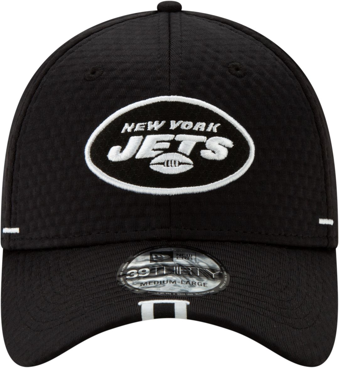 the latest d7f46 f990e New Era Men s New York Jets Sideline Training Camp 39Thirty Stretch Fit Black  Hat