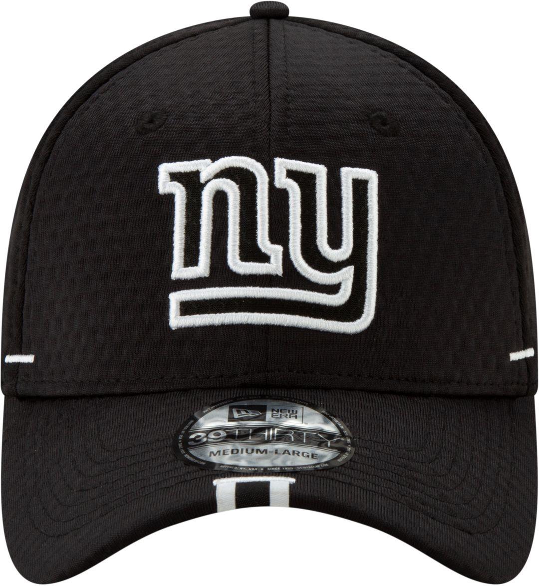 3f02f2f7 New Era Men's New York Giants Sideline Training Camp 39Thirty Stretch Fit  Black Hat