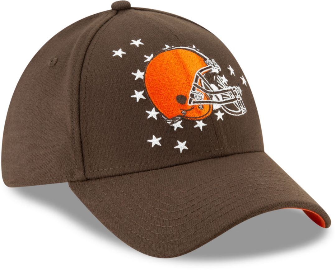 4f90a466 New Era Men's Cleveland Browns 2019 NFL Draft 39Thirty Stretch Fit Brown Hat