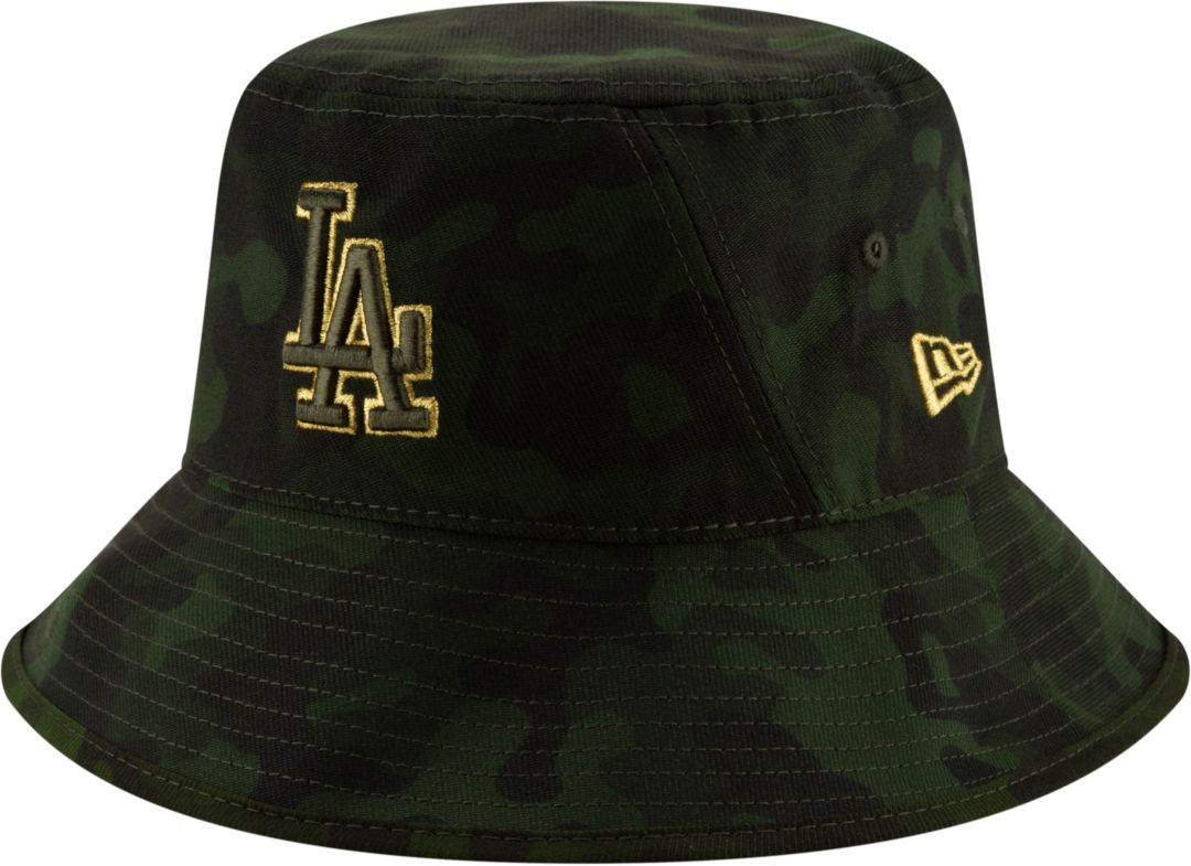 40088ddf New Era Men's Los Angeles Dodgers Armed Forces Bucket Hat