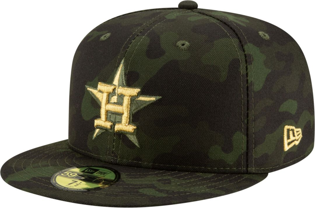 bd5108fd New Era Men's Houston Astros 59Fifty Armed Forces Fitted Hat