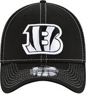 New Era Men's Cincinnati Bengals Sideline Road 39Thirty Stretch Fit Black Hat product image