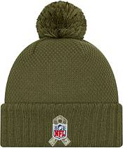 New Era Women's Salute to Service Seattle Seahawks Olive Cuffed Pom Knit product image