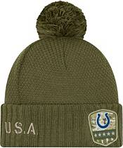 New Era Women's Salute to Service Indianapolis Colts Olive Cuffed Pom Knit product image