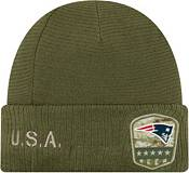 New Era Men's Salute to Service New England Patriots Olive Cuffed Knit product image