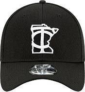 New Era Men's Minnesota Twins 39Thirty Black Batting Practice Stretch Fit Hat product image