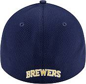 New Era Men's Milwaukee Brewers 39Thirty Navy Batting Practice Stretch Fit Hat product image