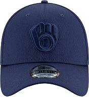 New Era Men's Milwaukee Brewers Navy 39Thirty Perftone Stretch Fit Hat product image