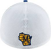New Era Men's Milwaukee Brewers Blue 39Thirty Heather Neo Stretch Fit Hat product image