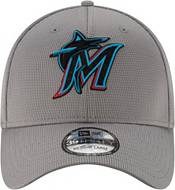 New Era Men's Miami Marlins Gray 39Thirty Clubhouse Stretch Fit Hat product image