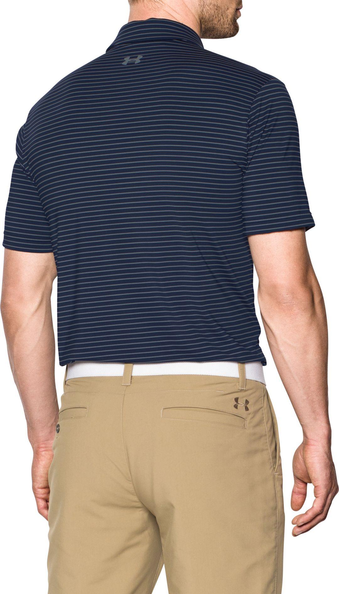 07425b595b Under Armour Men's Playoff Heather Stripe Golf Polo | DICK'S ...