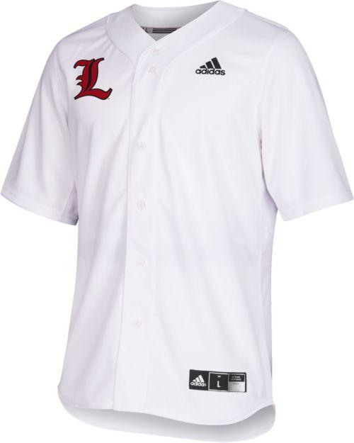 outlet store 62810 d79b2 adidas Men s Louisville Cardinals  19 Replica Baseball White Jersey