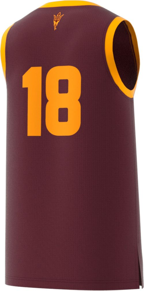 9e1ca46832c adidas Men s Arizona State Sun Devils  18 Maroon Replica Basketball Jersey.  noImageFound. Previous. 1. 2. 3