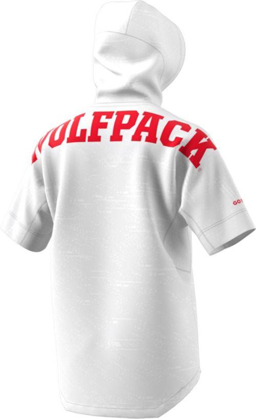 adidas Men s NC State Wolfpack Short Sleeve Shooter Basketball White ... b2902ab10