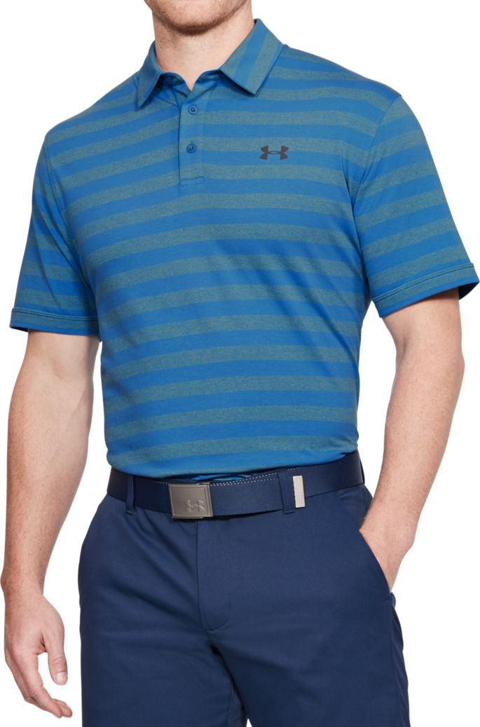 05f526ec Under Armour Men's Charged Cotton Scramble Stripe Golf Polo | Golf ...