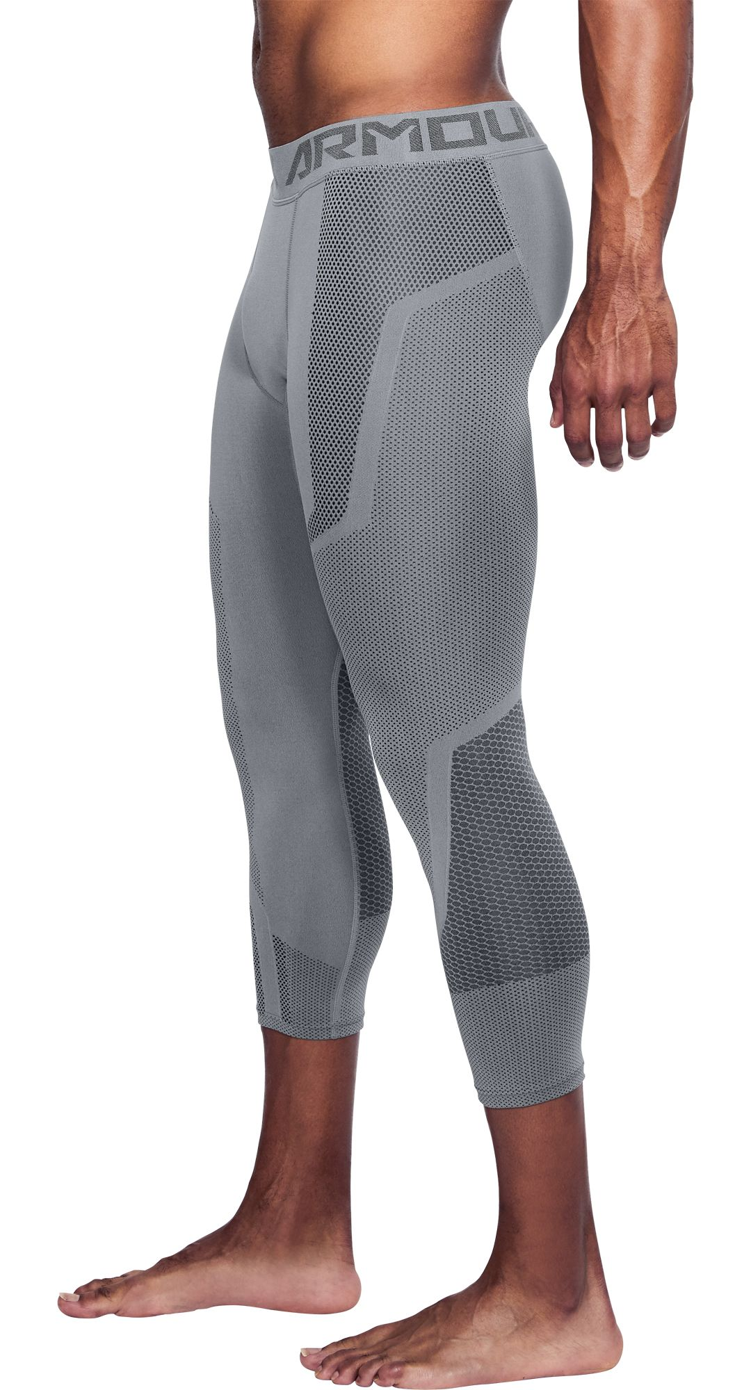 70b87cfec8b24b Under Armour Men's Threadborne Seamless ¾ Length Leggings. noImageFound.  Previous. 1. 2. 3