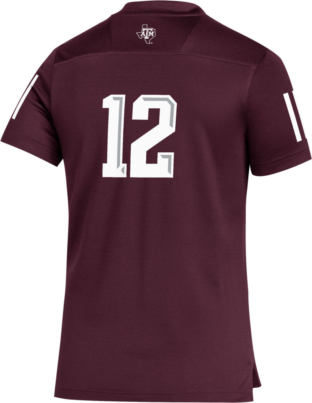 size 40 971be c91de adidas Youth Texas A&M Aggies #12 Maroon Replica Football Jersey