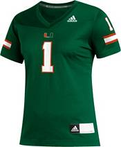 adidas Women's Miami Hurricanes #1 Green Replica Football Jersey product image