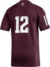 adidas Men's Texas A&M Aggies #12 Maroon Replica Football Jersey product image