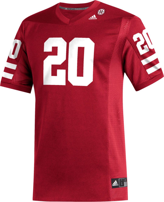 size 40 856b7 1e00e adidas Men's Nebraska Cornhuskers #20 Scarlet Replica Football Jersey