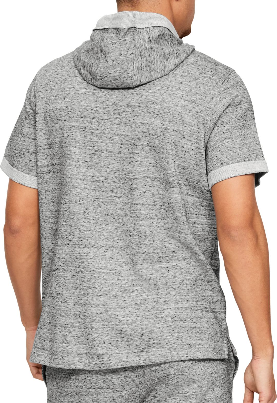 0b5b09837 Under Armour Men's Project Rock French Terry Short Sleeve Hoodie