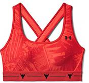 Under Armour Women's Project Rock Aloha Print Crossback Sports Bra product image