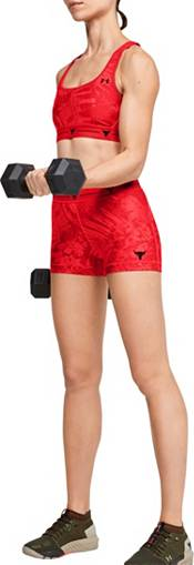 Under Armour Women's Project Rock HeatGear Shorty 3'' Shorts product image