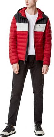 Tommy Hilfiger Men's Quilted Lightweight Colorblock Hooded Puffer Jacket product image
