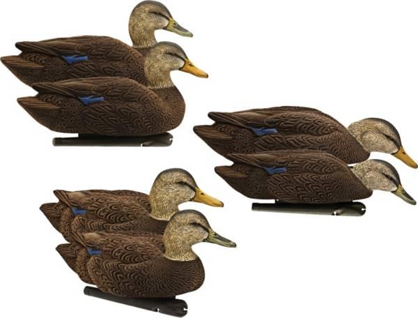 Avian-X Topflight Flocked Black Duck Floater Decoys - 6 Pack product image