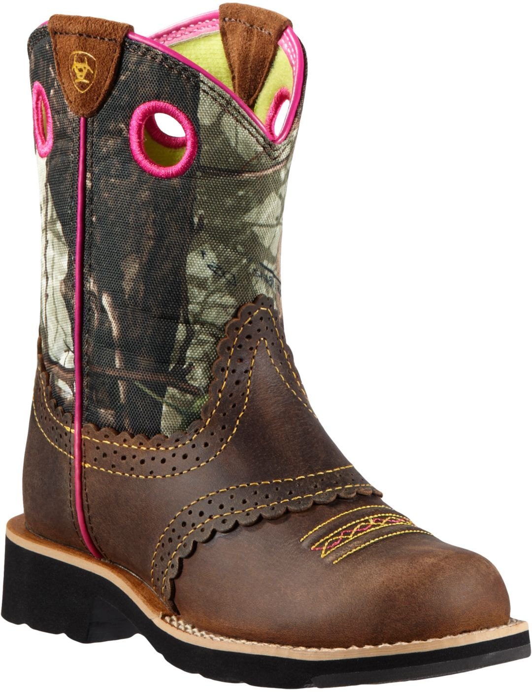 4e8c421eb654a Ariat Girls' Fatbaby Cowgirl Camo Western Boots