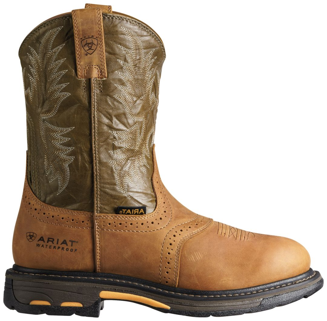 2847ccda39aec Ariat Men's Workhog Pull-On Waterproof Composite Toe Work Boots.  noImageFound. Previous