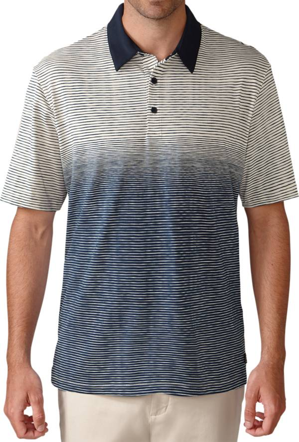 Ashworth Men's Primatec Cotton Linen Ombre Stripe Polo product image