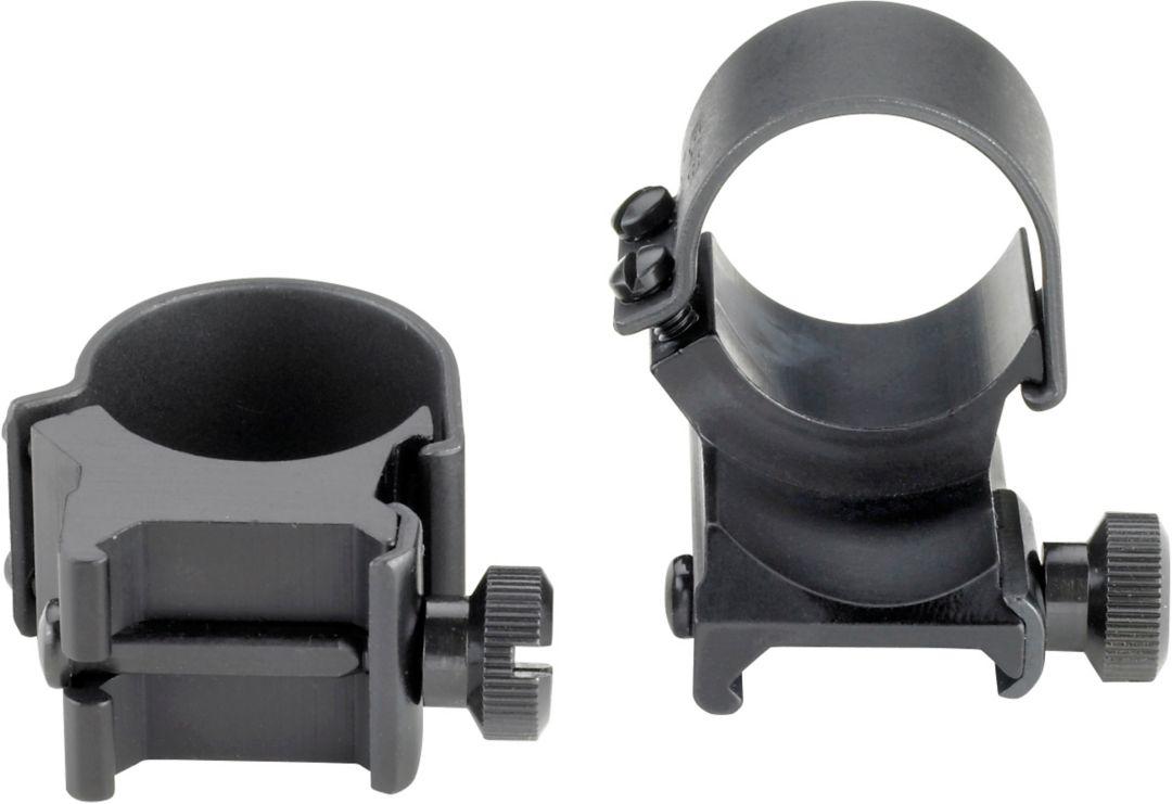 Weaver Detachable Top Mount Dual Extension Scope Rings High Matte Black 49045