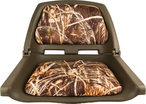Attwood Padded Flip-Up Seat in Green Camouflage product image