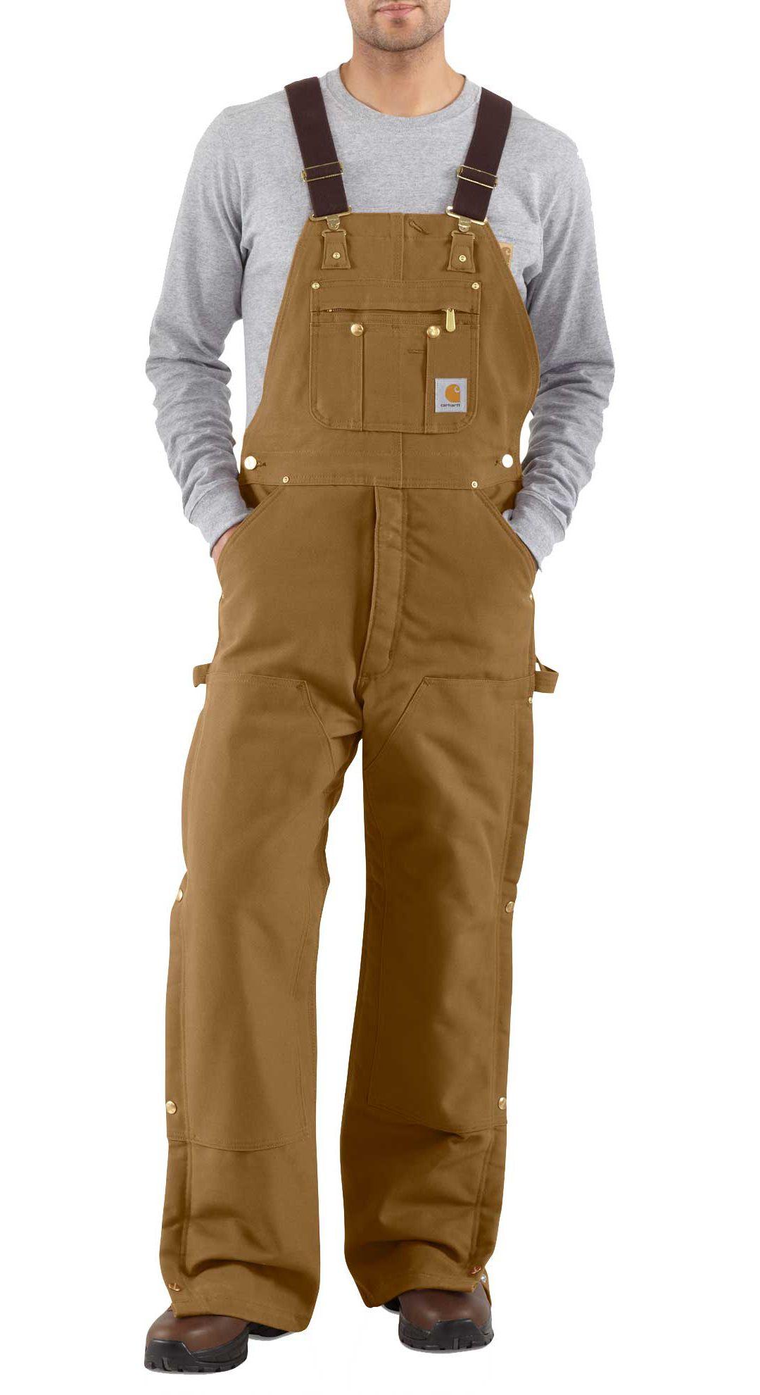a128ce3a85 Carhartt Men's Zip-To-Thigh Quilt Lined Duck Bibs   DICK'S Sporting ...