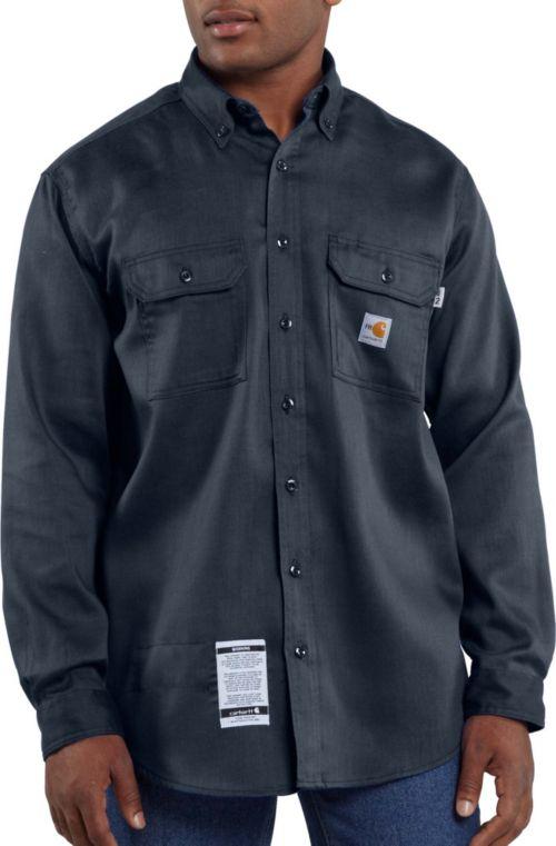 b6c1c1798638 Carhartt Men s Flame Resistant Work-Dry Twill Long Sleeve Work Shirt ...