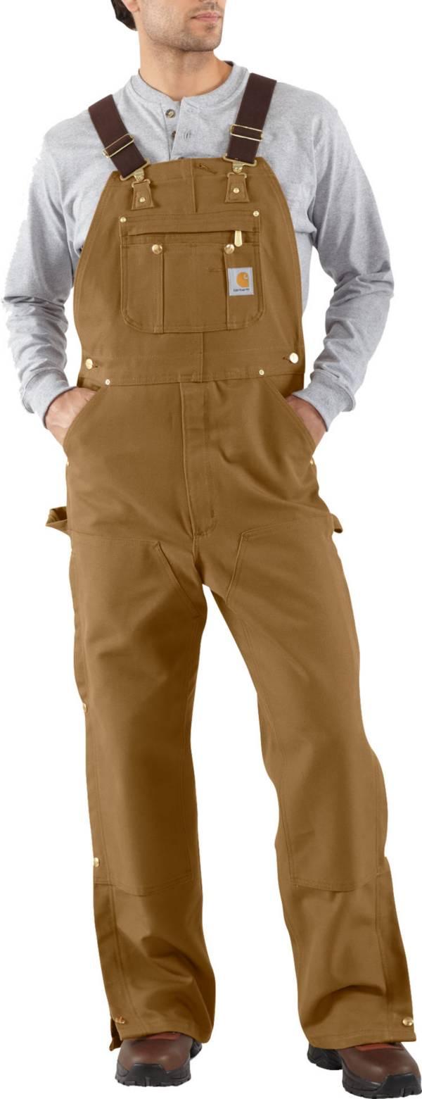 Carhartt Men's Unlined Zip-To-Thigh Duck Bibs product image