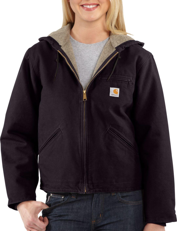 2183cbf30b Carhartt Women's Sandstone Sierra Sherpa-Lined Jacket. noImageFound.  Previous. 1. 2