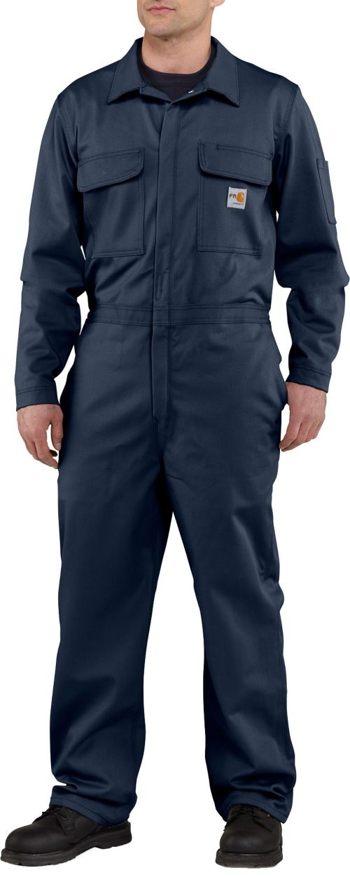 Carhartt Men S Flame Resistant Traditional Twill Coveralls Field
