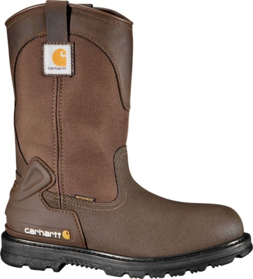 a68ef29a18b Carhartt Men's Bison 11'' Mud Wellington Safety Toe Waterproof Work ...