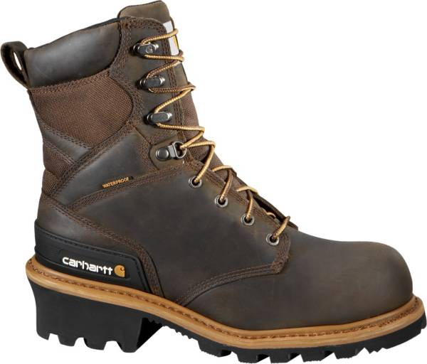 "Carhartt Men's Logger 8"" Waterproof Composite Toe Work Boots product image"