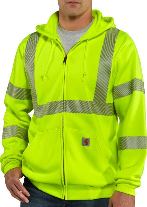 Carhartt Men's High-Visibility Zip-Front Class 3 Sweatshirt product image