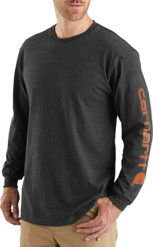 fe5b0585f4f Carhartt Men's Graphic Logo Long Sleeve Shirt. noImageFound. Previous