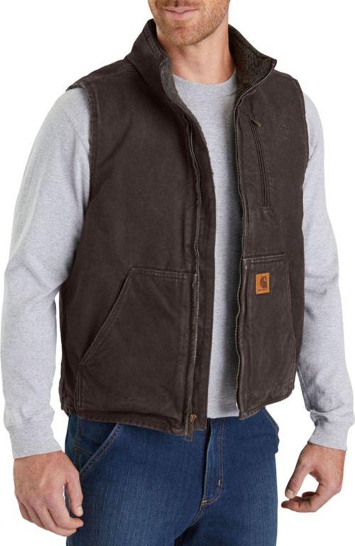 86118cb2e974 Carhartt Men s Sandstone Mock-Neck Vest